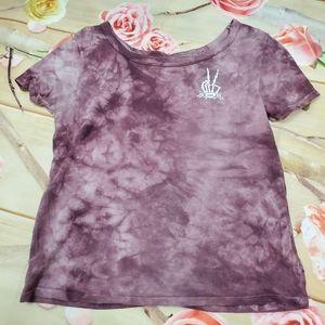 Vans cropped tye dye shirt